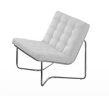 eco barcelona white leather modern chair