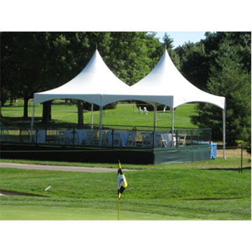 20x20 high peak frame tent rental chicago event