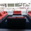 outdoor espresso brown rattan wicker furniture rental