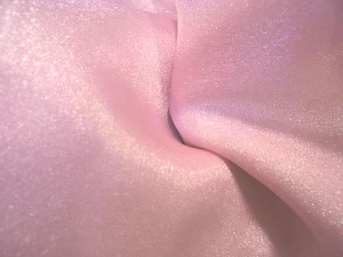 peppermint pink organza