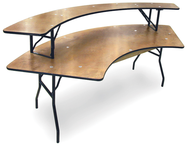 Superbe Banquet Bar Serp Wood Folding Banquet Table