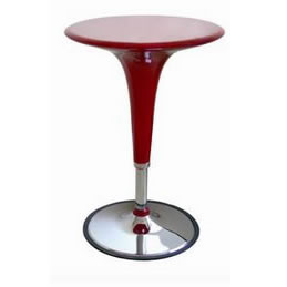 red acrylic adjustable highboy cocktai bar table