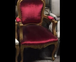 red gold side chair