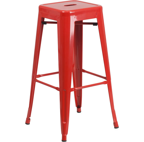 Chino Metal Barstools, Red Bar Stools U0026 Dining Chairs   Egpres