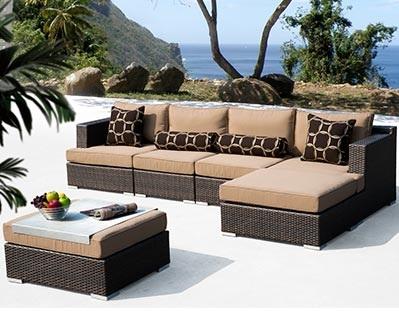 outdoor espresso brown rattan wicker furniture rentals