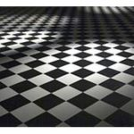 Black and white patterned check checkered dance floor