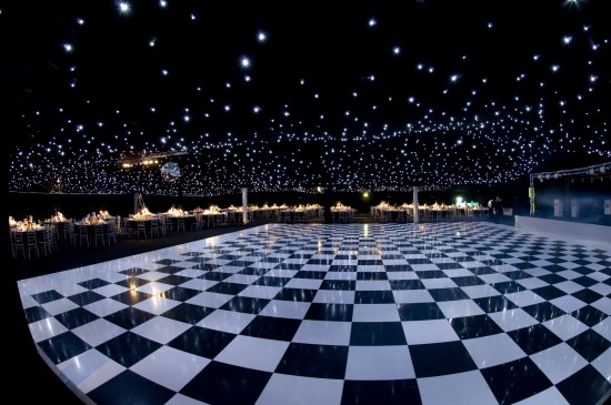 Black And White Dance Floor Rental