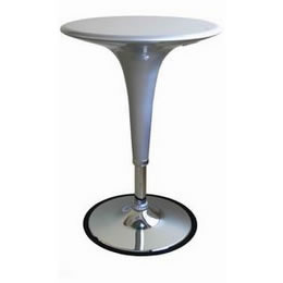 Silver Acrylic Adjustable Highboy Cocktail Bar Table