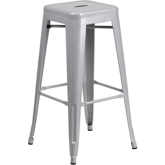 Chino Metal Barstools Silver Bar Stools Amp Dining Chair