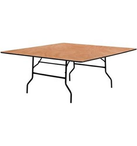 square wood folding table 60 inch