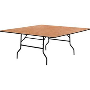 square wood folding table 72 inch