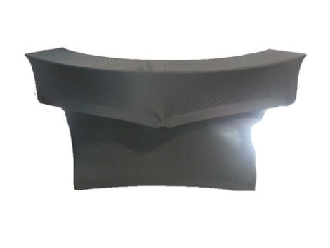 standard spandex covered round serpentine bar with serving shelf