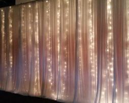 twilight string christmas lighting backdrop rental