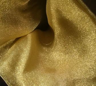 victorian gold organza