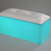 white acrylic club bench led lit lighting aqua