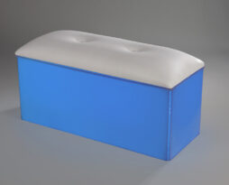 white acrylic club bench led lit lighting blue