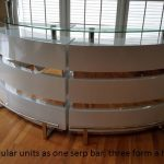 white reflections service bar rental chicago rent pair front view