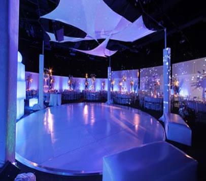 white round dance floor