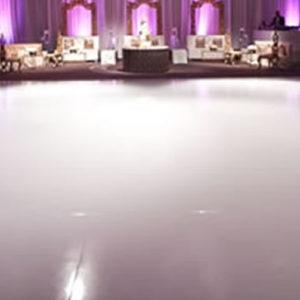 white vinyl cover covered df dance floor