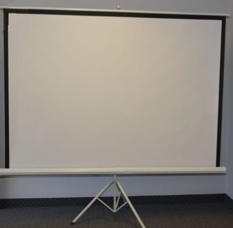 White 100_inch_4-3_Portable_Tripod_Projector_Projection_Screen_rent