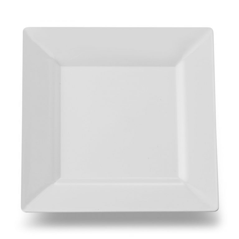 rent square white sheer plate