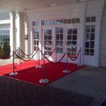 rent red carpet chicago special event party double wide entrance red stanchion