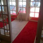 rent red carpet chicago special event party double wide entrances red stanchion
