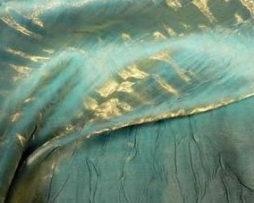 turquoise gold iridescent crush