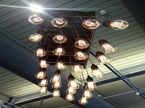 Vintage edison marconi bulb chandelier egpres edison bulb chandelier aloadofball Image collections