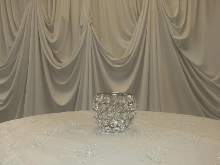 3in crystal votive holder