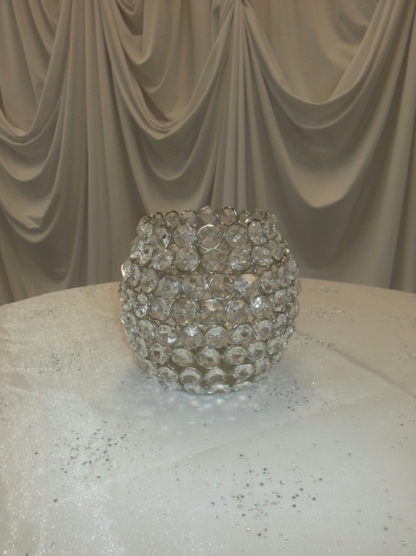 4inx5in crystal votive holder