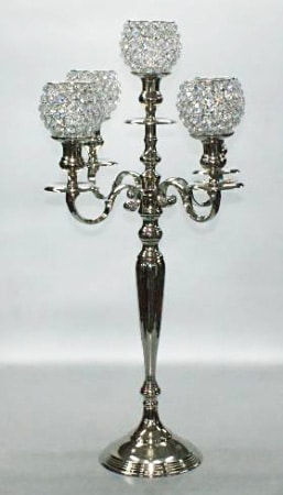 32in crystal votive candelabra