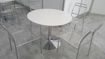 ... White Cocktail Table Rental