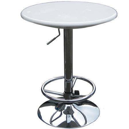 White pub table, adjustable for cocktail or highboy pub table rent chicago