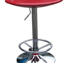red pub table, adjustable for cocktail or highboy pub table rent chicago
