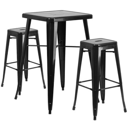 rent-rental-chicago-black-metal-indoor-outdoor-bar-table-set-with-2-backless-chino-barstools
