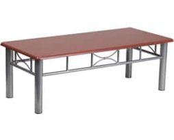 rent-chicago-mahogany-laminate-coffee-table-with-silver-steel-frame-mah