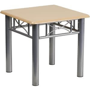 rent-rental-chicago-natural-laminate-end-table-with-silver-steel-frame