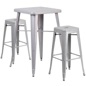 rent-rental-chicago-silver-metal-indoor-outdoor-bar-table-set-with-2-backless-chino-barstools