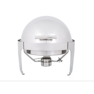 Chafer Round Roll Top Chrome rental buffet