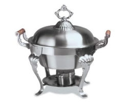 Classic Sculptured Round Winco Chafer Rent Chicago
