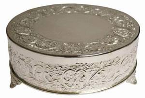 Silver Cake Plateau