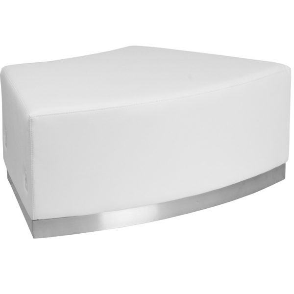 Ace Convex Bench White Leather Egpres